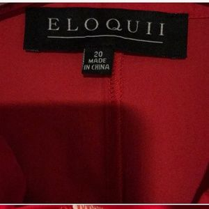 Eloquii Tops - Red blouse with bow detail